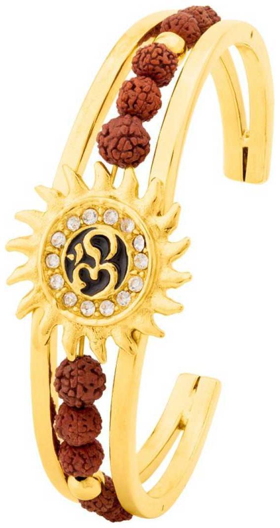 Om Sun Cuff Kada Bracelet for Men