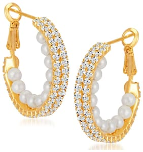 Shostopper Beguiling Gold Plated Australian Diamond Earring