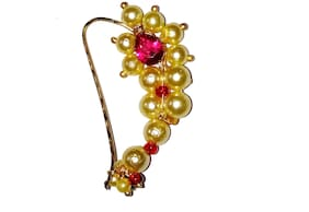 Shrungarikaa Gold Alloy  Festive Wear  Nose stud & Nose ring