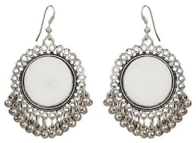 Tahira Fashion Present Silver Oxidized High Class Luxury Hot Selling Mirror Afghan Tribal Afghani Earrings very light weight