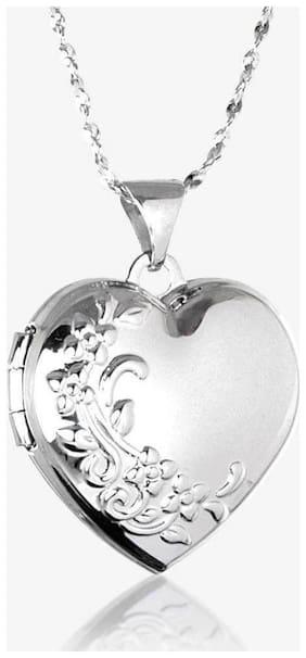 Silver Photo Frame Heart