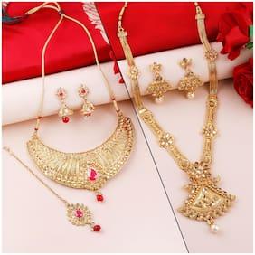 Alloy Gold Antique Necklace Set