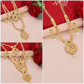 Gold;Yellow Necklace Combo