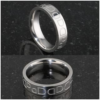 Silver Shine Silver Plated Awesome and Elegant  Band Ring for Boys and Men