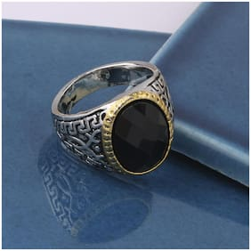 SILVER SHINE Silver Plated Designer Classic look Ring For Men Boys