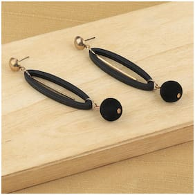 Silver Shine Party Wear Natural Wooden Earring For Perfect And Different Look For Women