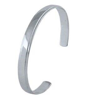 Silver Stainless Steel Kada Bangle for Men