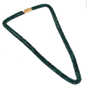 Simaya Fashionista Two Layer Green Onyx Necklace For Indian Beauty
