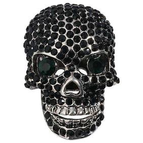 Skull brooch pin women biker gothic jewelry gifts for women antique silver BD07