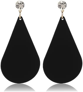 Skylofts Fashion Dangler Black Droplet Earrings Fancy Party Wear For Girls And Women