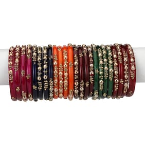 Somil Designer Matching Color Fashionable Bangle Set Combo Hand Decorative (Set Of 24) -SM 2.4
