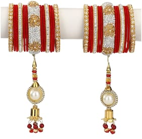 Somil Traditional Party Bangle Set With Latkan;Party Bridal Collaction NE18