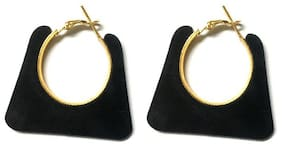 SparkEve Trendy Black Hoops for girls and women