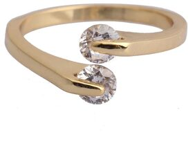 Women's Sparkling Crystal 18K Gold Ring
