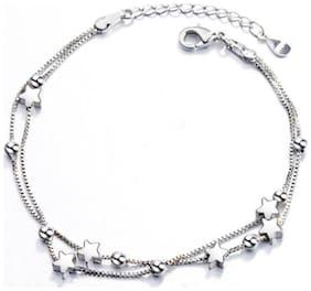 Sterling Silver Star Multi Layer Loose Bracelet For Women & Girls