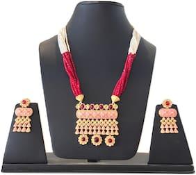 Stilvoli Wedding Engagement Bridal Necklace Set Earrings Bollywood Women Jewellery Set