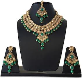 Stilvoli Wedding Engagement Bridal Necklace Set Earrings Maang Tikka Bollywood Women Jewellery Set