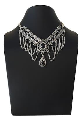 Stilvoll Fashion Choker Necklace Charm Chunky Antique Vintage Look Women Jewellery