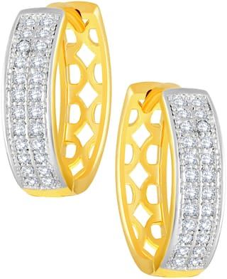 Sukai Jewels Cluster Solitaire Gold Plated Bali For Women and Girls