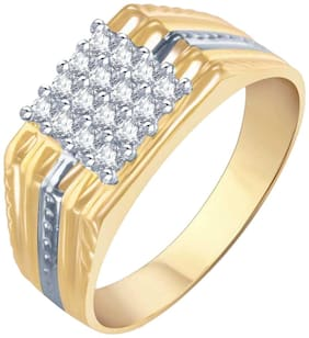 Sukai Jewels  Royal Look Gold Plated Alloy & Brass Cubic Zirconia Finger Ring for Men