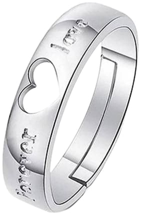 Sukai Jewels Forever Love Rodhium Plated Alloy & Brass Cubic Zirconia Ajustable Finger Ring For Women And Girls