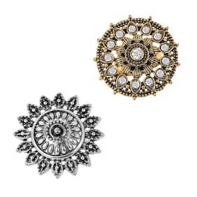 Gold;Silver Brass Ring