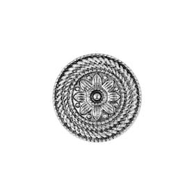 Sukai Jewels Elegant Design Oxidised Silver Adjustable Ring For Women And Girls