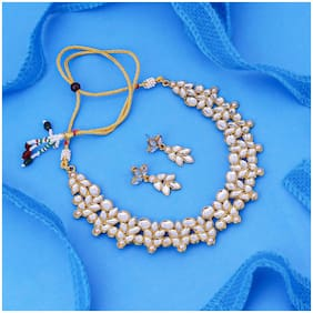 Sukkhi Adorable Gold Plated Kundan Necklace Set for Women