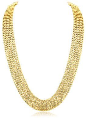 Sukkhi Amazing 7 String Gold Plated Necklace set For Women