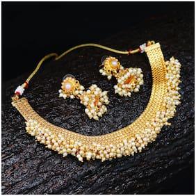 Sukkhi Astonish Gold Plated Choker Necklace set For Women