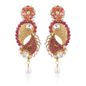 Sukkhi Astonish Gold Plated AD and Kundan Earring For Women (Pack Of 5)