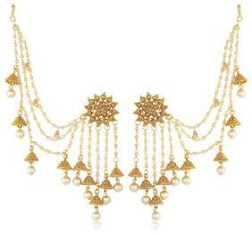 Sukkhi Ethnic Gold Plated Wedding Jewellery Bahubali Inspired Long Chain Jhumki Earrings For Women