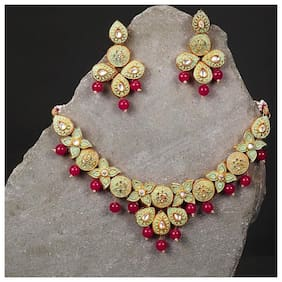 Sukkhi Bollywood Inspired Mint Collection Gold Plated Neckalce Set for Women