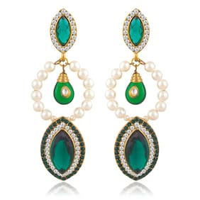 Sukkhi Brilliant Gold Plated Pearl Earring For Women (Pack Of 5)