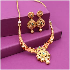 Sukkhi Classic Choker Gold Plated Necklace Set for Women