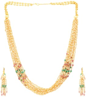 Sukkhi Classic Gold Plated Multicolor Necklace Set For Women