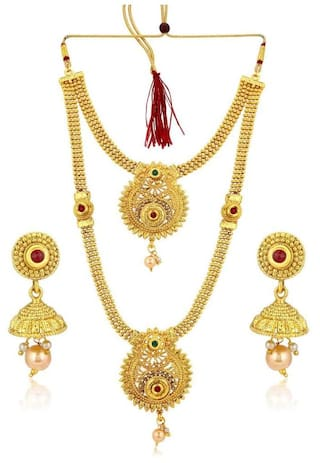 Sukkhi Cluster Gold Plated Necklace Set For Women