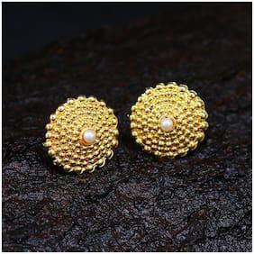 Sukkhi Dazzling Gold Plated Wedding Jewellery Pearl Stud Earring For Women