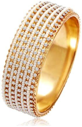Sukkhi Delightful Gold Plated Wedding Jewellery Pearl Kada For Women