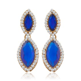 Sukkhi Fabulous Gold Plated AD Earring For Women (Pack Of 5)