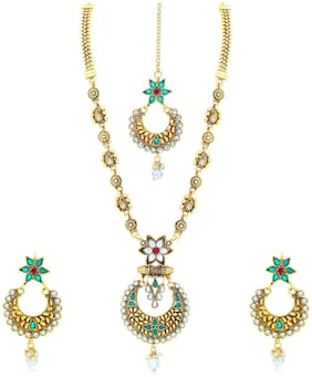 Sukkhi Fascinating Gold Plated Necklace Set for Women