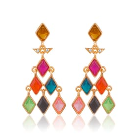 Sukkhi Fashionable Gold Plated Earring For Women (Pack Of 5)