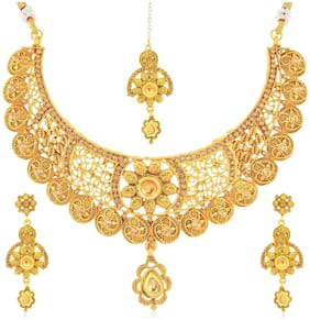 Sukkhi Fashionable Gold Plated Necklace Set for Women