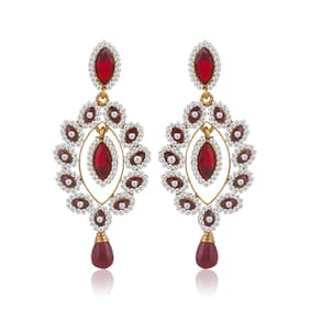 Sukkhi Fine Gold Plated AD Earring For Women (Pack Of 5)