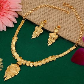 Alloy Yellow Antique Necklace