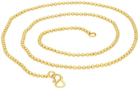 Sukkhi Glimmery Gold Plated Unisex Ball chain