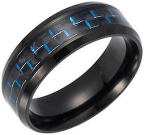 Sukkhi Glimmery Black Titanium Gents Ring for Men