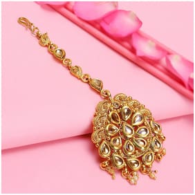 Sukkhi Glimmery LCT Gold Plated Maang Tikka For Women