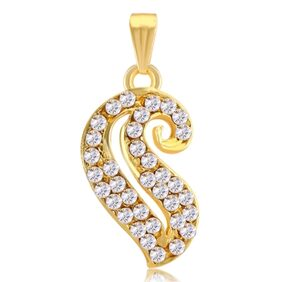 Sukkhi Glimmery AD Gold Plated Pendant