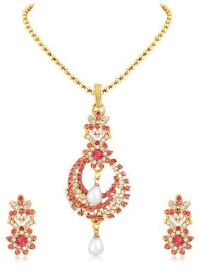 Sukkhi Glorious Gold Plated Pendant Set For Women